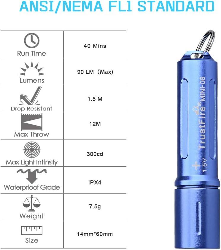 Schl/üsselanh/änger kompakt rot Taschenlampe Schl/üsselanh/änger Taschenlampe MINI-06 EDC Taschenlampe Rot//Gr/ün // Blau//Schwarz // Gold optional