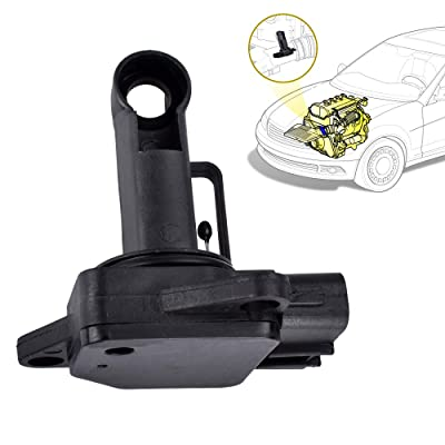 Mass Air Flow Sensor Meter 22204-21010 74-50009 AF10029 5Pin Compatible with Toyota Camry Solara 4Runner Lexus Es300 Rs300
