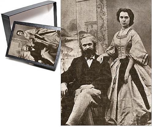 Karl Marx Costume (Photo Jigsaw Puzzle of Karl Marx and his wife, Jenny (nee von Westphalen))