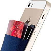 Sinjimoru Credit Card Holder for Back of Phone, Adhesive Phone Card Wallet Stick-on Cell Phone Sleeve Pocket for iPhone…