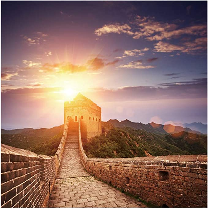 7x10 FT Great Wall of China Vinyl Photography Backdrop,The Magnificent Heritage of World Background Brick Borders Picture Background for Baby Birthday Party Wedding Graduation Home Decoration