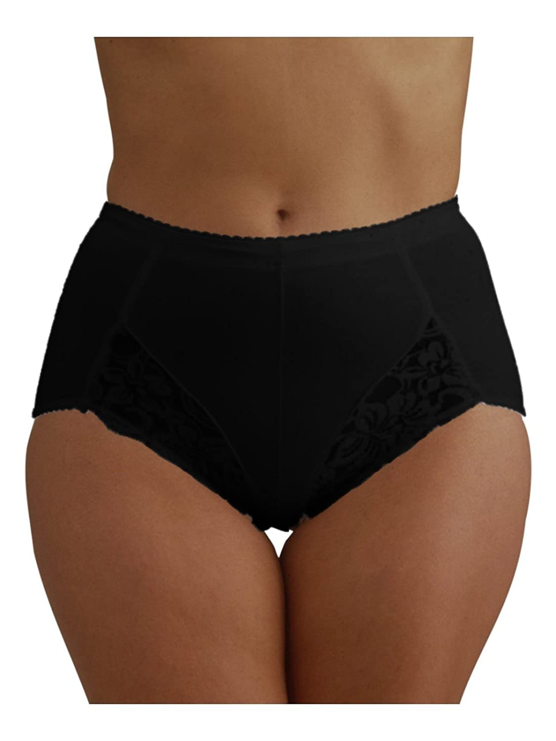 9d9a9daa7960 Ladies Light Control Support Briefs Knickers with Lace Detail / White or  Black / Various Sizes: Amazon.co.uk: Clothing