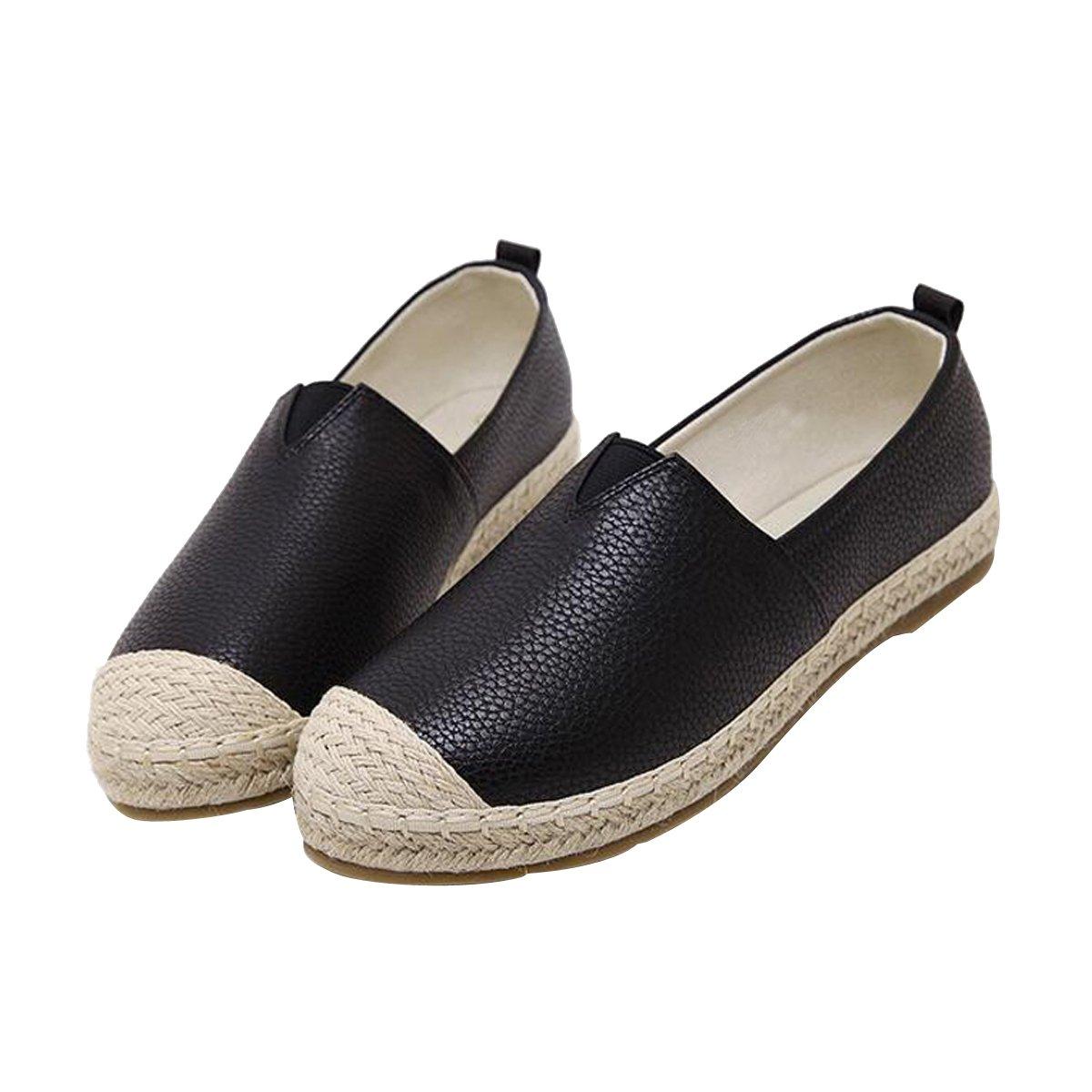 VFDB Slip On Espadrilles Casual Women Loafers Flat Shoes Black 37