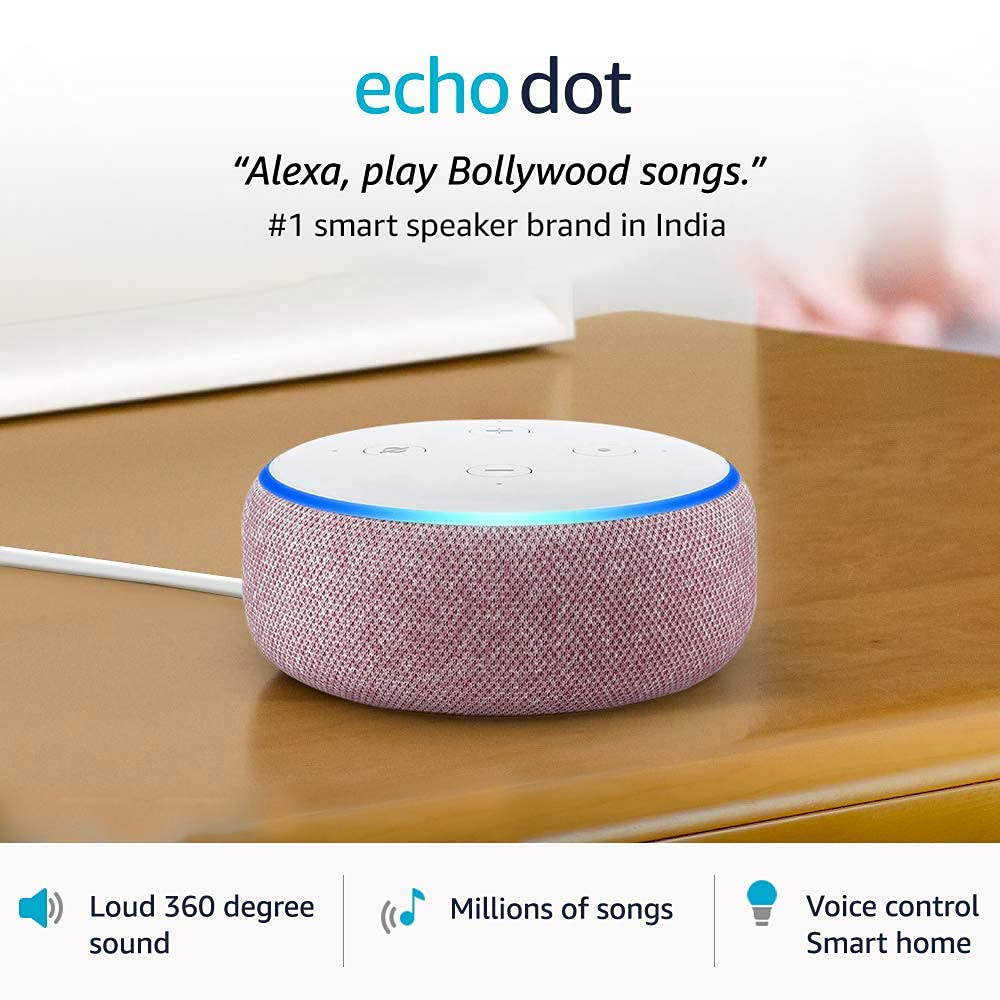 Echo Dot (3rd Gen) – Smart speaker with Alexa (Purple)