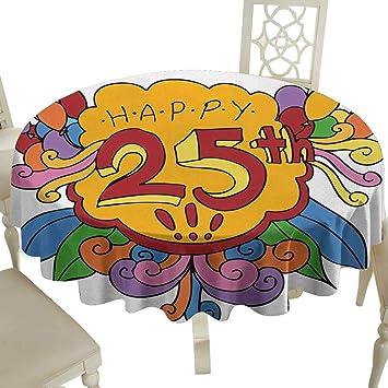 Cranekey Mantel Redondo para Fiesta de 21 cumpleaños, Fiesta ...