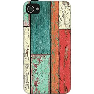 DailyObjects Cubic Wood Vertical Case For iPhone 4/4S (Back Cover)