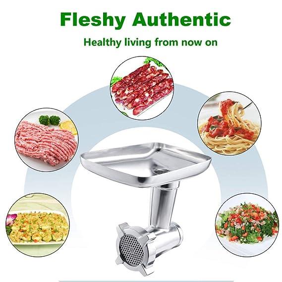Ayuda de Cocina de Acero Inoxidable, Accesorio de Molinillo de Alimentos, moliendo rápidamente Las Carnes crudas para Las batidoras de Alimentos ...