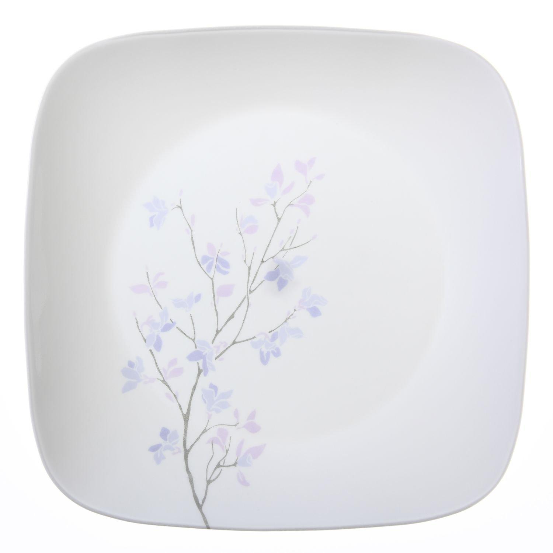 Amazon.com   Corelle Square 6-Piece Dinner Plate Set, Twilight ... for Square Plate Designs  117dqh