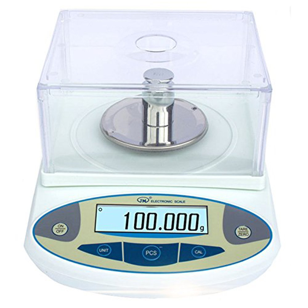 BAOSHISHAN 500g/1mg Lab Scale Precision 0.001g Analytical Electronic Balance Lab Precision Weighing Balance Scales Jewelry Scales Calibrated (500g/1mg) by BAOSHISHAN