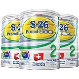 (跨境自营)(包税) 港版惠氏 Wyeth铂臻S-26 Ultima 婴幼儿奶粉2段 (6-12个月) 800克 3罐装