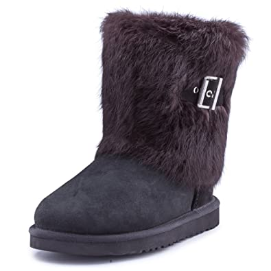 Women's Mid-calf Fur Sheepskin Boot Winter Shoe 13030