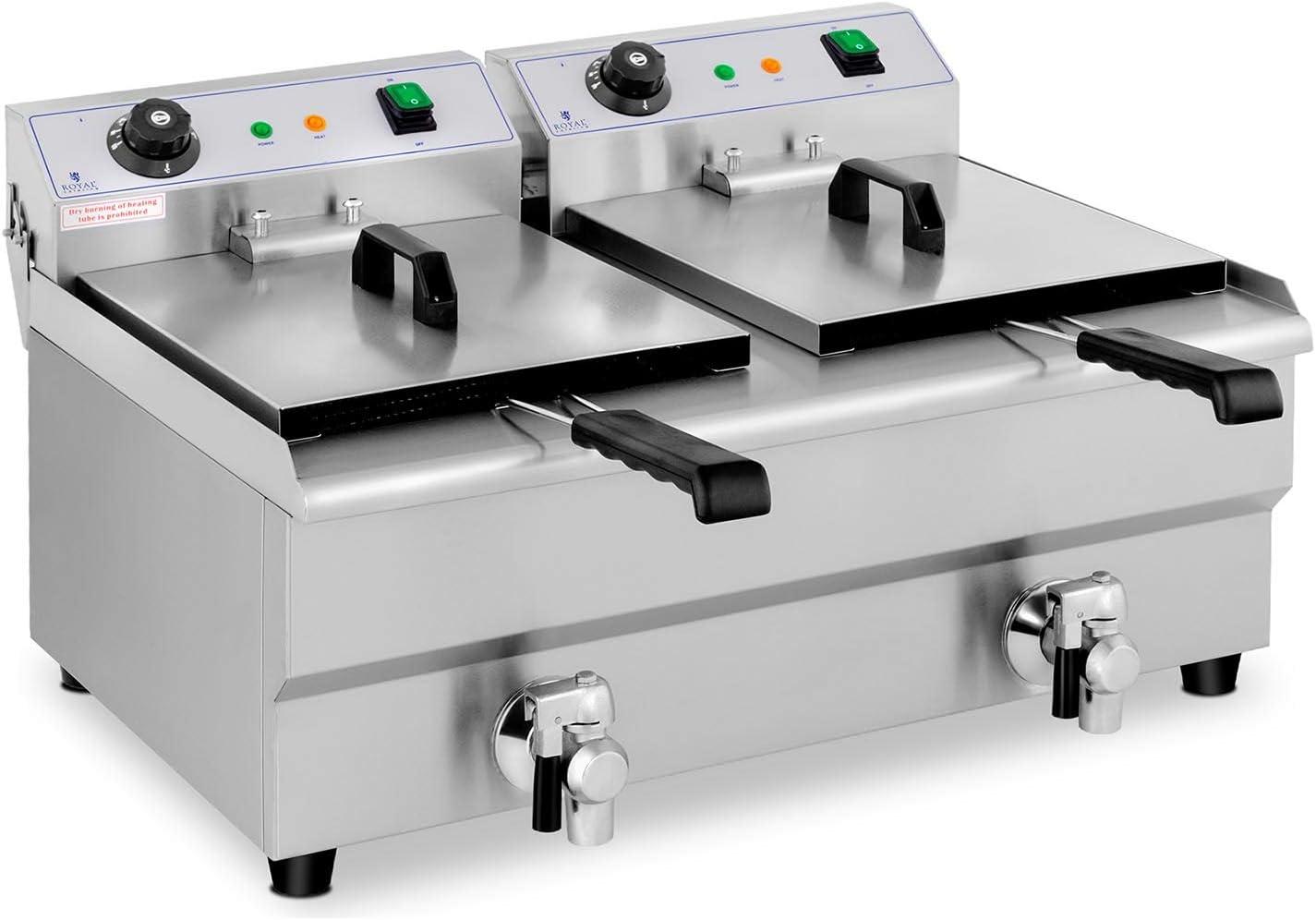 Royal Catering Freidora Eléctrica Doble Para Hostelería 2 x 13 ...
