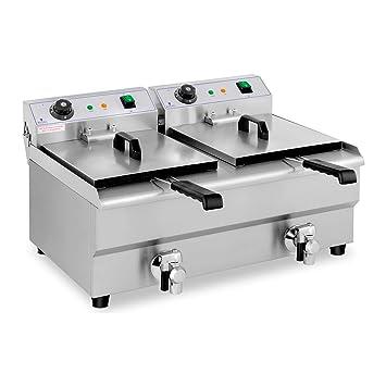 Royal Catering Freidora Eléctrica Doble Para Hostelería 2 x 13 Litros 230 V RCEF 13DB (