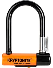 Kryptonite U-Locks, Blocco Disco Evolution Mini-5 con Supporto Flexframe-U Unisex, Nero/Arancione