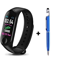 KUMA M3 Smart Fitness Band Activity Tracker with Heart Rate Sensor for Androids and iOS Phone/Tablet