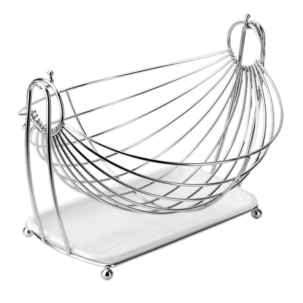 He Xiang Ya Shop Stainless steel drain rack living room fruit plate vegetable drain basket snack cradle