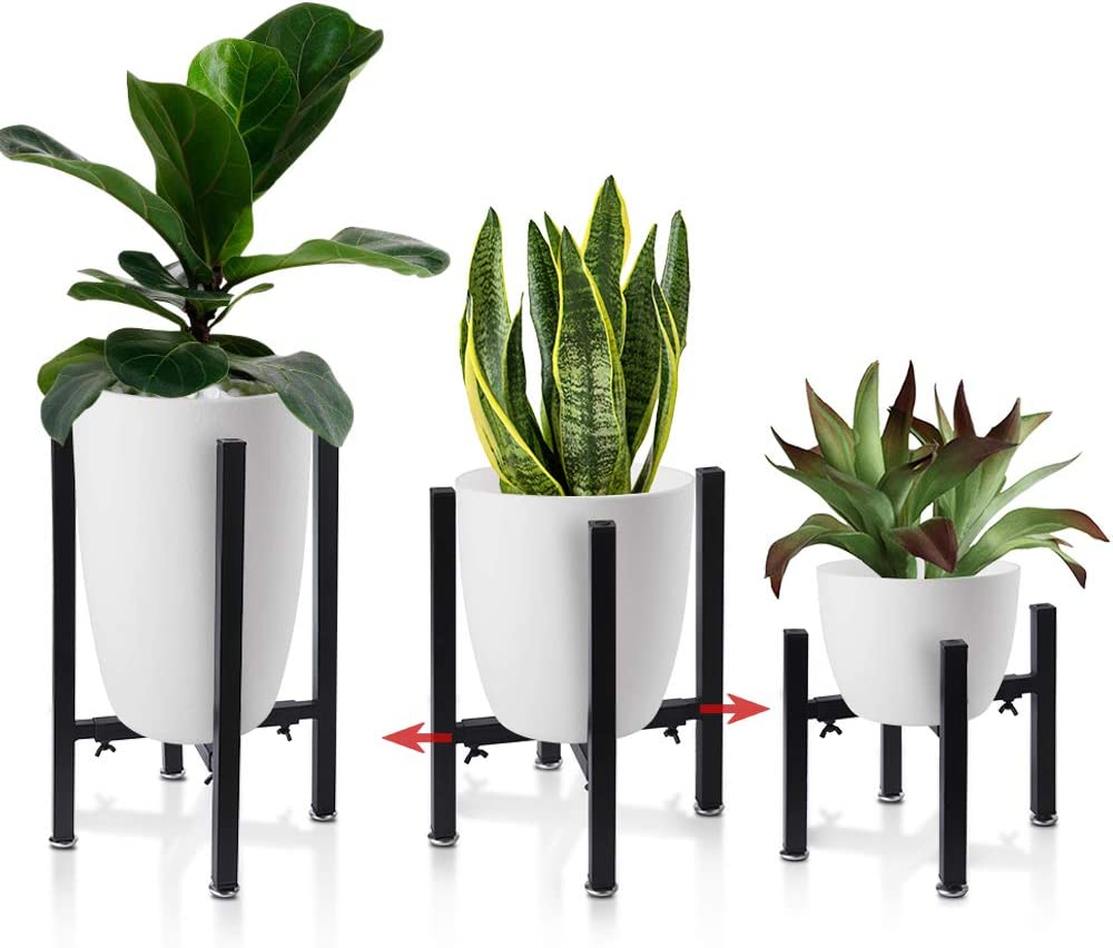 set of 2 9.5 Planter pots with stand ,planter with stand indooroutdoor,planter with drainage,metal planter with stand,planter pot legs