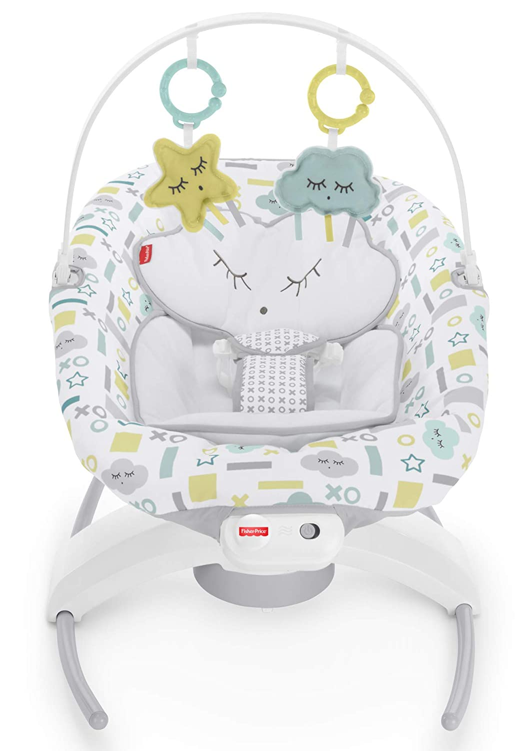 Fisher-Price 2-in-1 Deluxe Soothe n Play Glider with Smart Connect Hugs /& Kisses Cloud