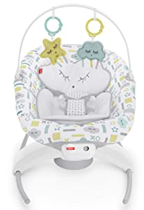 Fisher-Price 2-in-1 Deluxe Soothe 'n Play Glider with Smart Connect - Hugs & Kisses Cloud