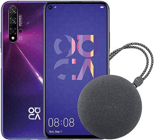 HUAWEI Nova 5T Smartphone, Viola + Speaker Bluetooth, 128GB+6GB RAM, Fotocamera Principale da 48MP, Processore Kirin 980 con Intelligenza Artificiale [Italia]