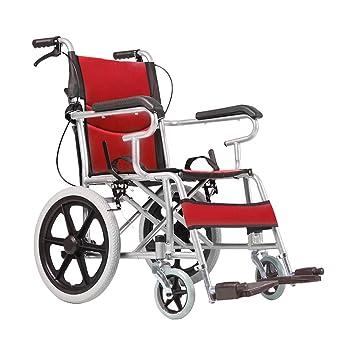 Sillas de ruedas plegables para personas mayores Acero al carbono Sillas de ruedas para discapacitados Scooters ...