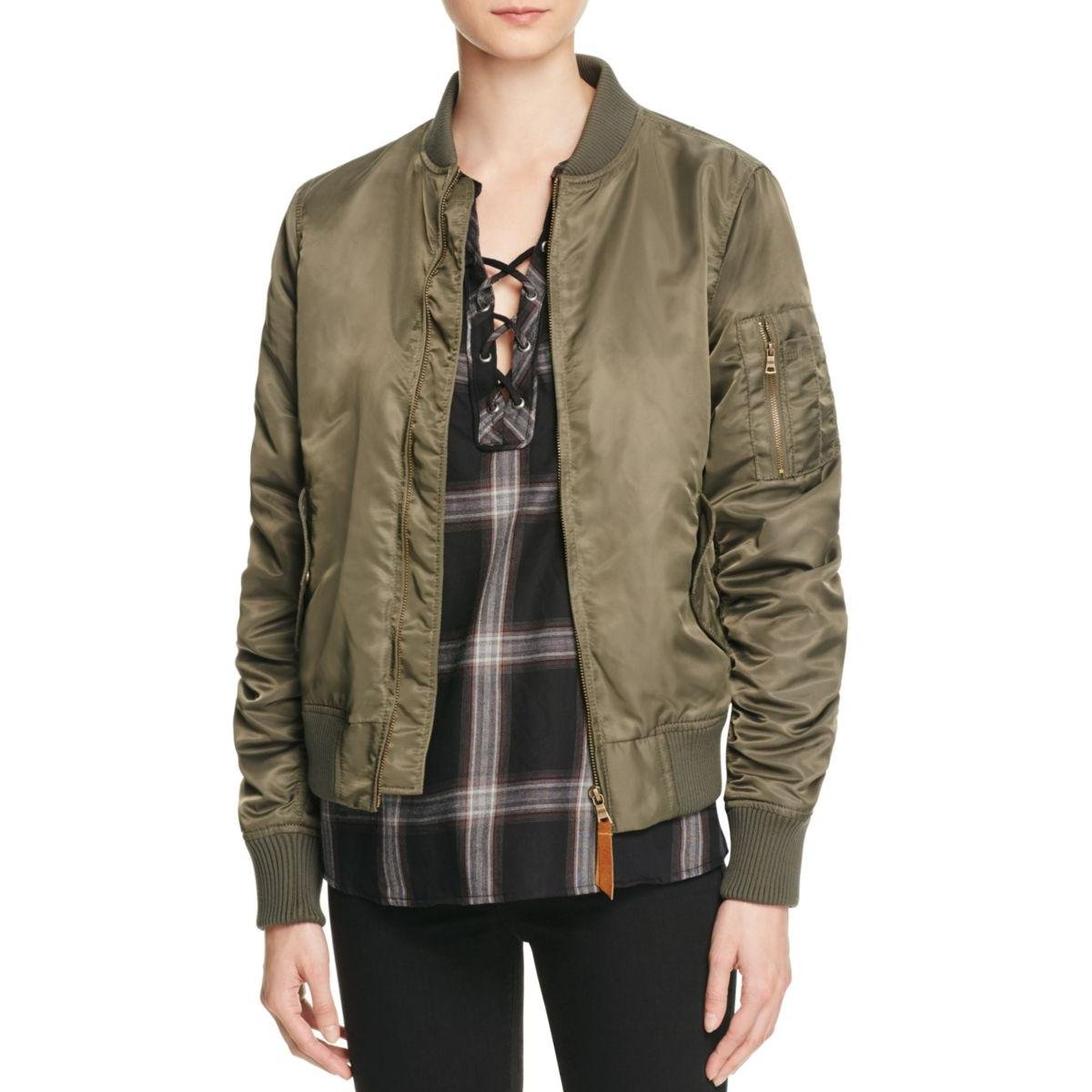 Sanctuary Women's Amelia Bomber Jacket In Military Green (Small)
