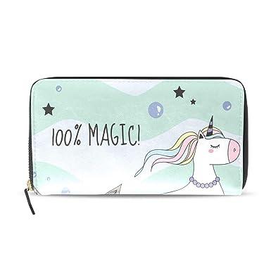 Amazon.com: Monedero para mujer, diseño de cola de sirena y ...