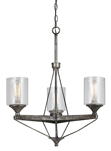 cal lighting fx 3538 3 chandelier with clear seeded glass shades