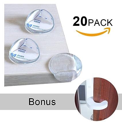 Paquete de 20 protectores de esquina transparentes - Edealing Baby ...