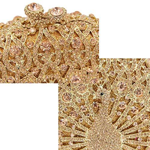 Peacock Donna Full Handbag Crystal FFLLAS Borsa 5 Type End Prom Luxury 5 Pochette Da High Sera Diamond Da 8EBqBYwRg