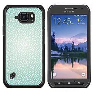 Stuss Case / Funda Carcasa protectora - Patrón Teal Luz brillante nieve del invierno - Samsung Galaxy S6Active Active G890A