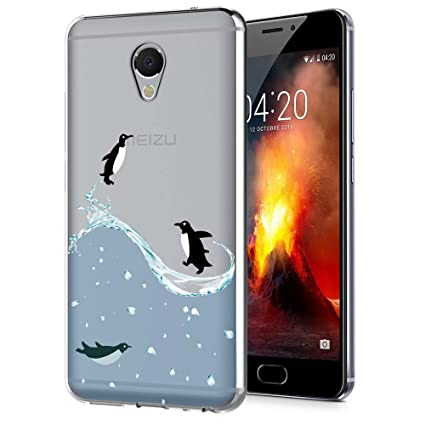 Meizu M5 Note Funda, ocketcase® TPU Carcasa Suave Silicona Flexible Gel Funda Resistente a los Arañazos Tapa Protectora Case Cover para Meizu M5 ...