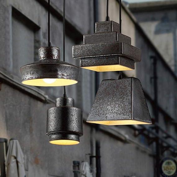 Amazon.com: 4 faros industriales de metal en hierro forjado ...