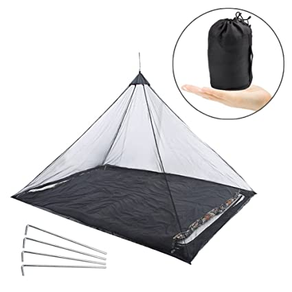 Vidillo Mosquito Net Outdoor Camping mosquitera Cama, Hamaca mosquitera Error mosquitera Negro para Viajes,