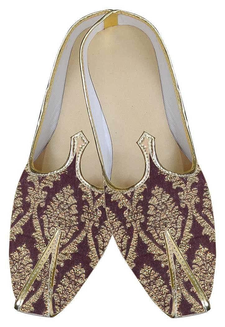 INMONARCH Hombres Marrón Diseñador Zapatos Impresionante MJ0046 44.5 EU