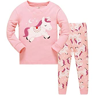 d3dec79e #1 Girls Christmas Pyjamas Set Toddler Clothes Sleepwear Animal Printed  Nightwear Winter Long Sleeve PJs 2 Piece