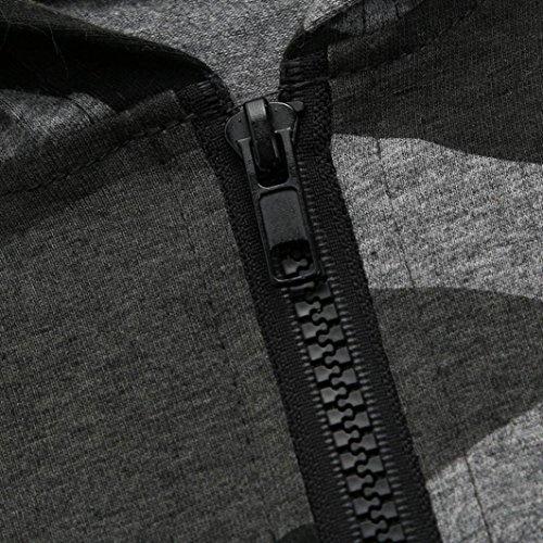 e0120c2280f5 Winsummer Newborn Baby Boy Girls Camouflage Hoodies Romper Zipper ...