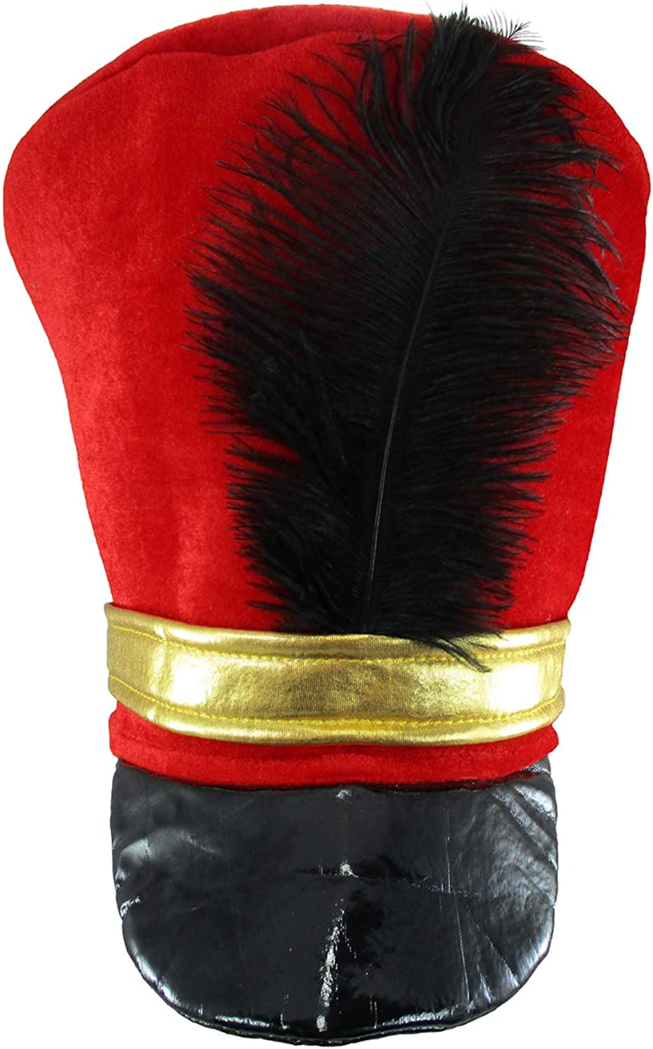 Band Major or Toy Soldier Hat Costume One Size Red Black