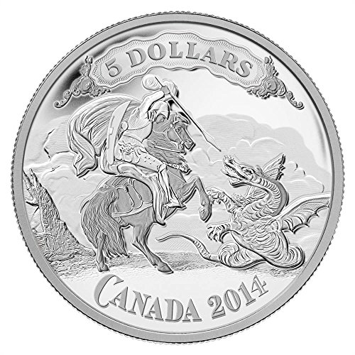 (2014 CA Canadian Bank Note Series vignette of Saint George Mintage: 8,500 Collection Mint State)