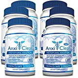 AnxiClear: Fast Relief for Stress and Anxiety (6 Bottles: 3 day + 3 night treatments)