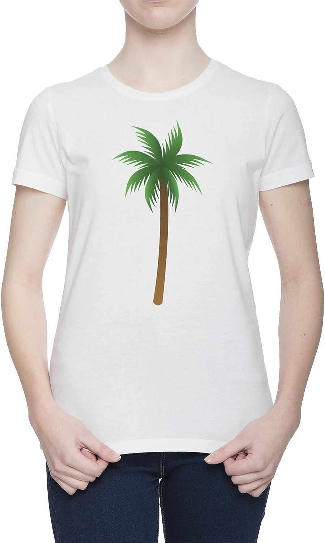 Palmera Camiseta Para Mujer Blanca Todos Los Tamaños | Womens White T-Shirt Top: Amazon.es: Ropa y accesorios