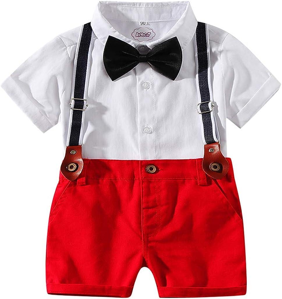Pants Kids Baby Boys Maglietta T-shirt Tops Spalline Salopette Vestiti Abiti 1-6Y