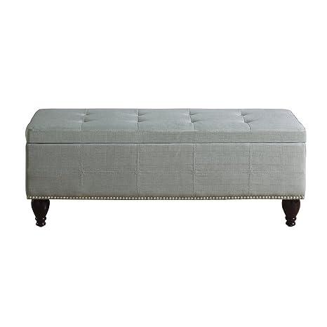 Prime Rosevera Home Elmo Upholstered Ottoman Storage Bedroom Bench Grey Frankydiablos Diy Chair Ideas Frankydiabloscom