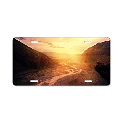 River Valley Auto >> Amazon Com Yex Abstract Sunset Dawn River Valley License