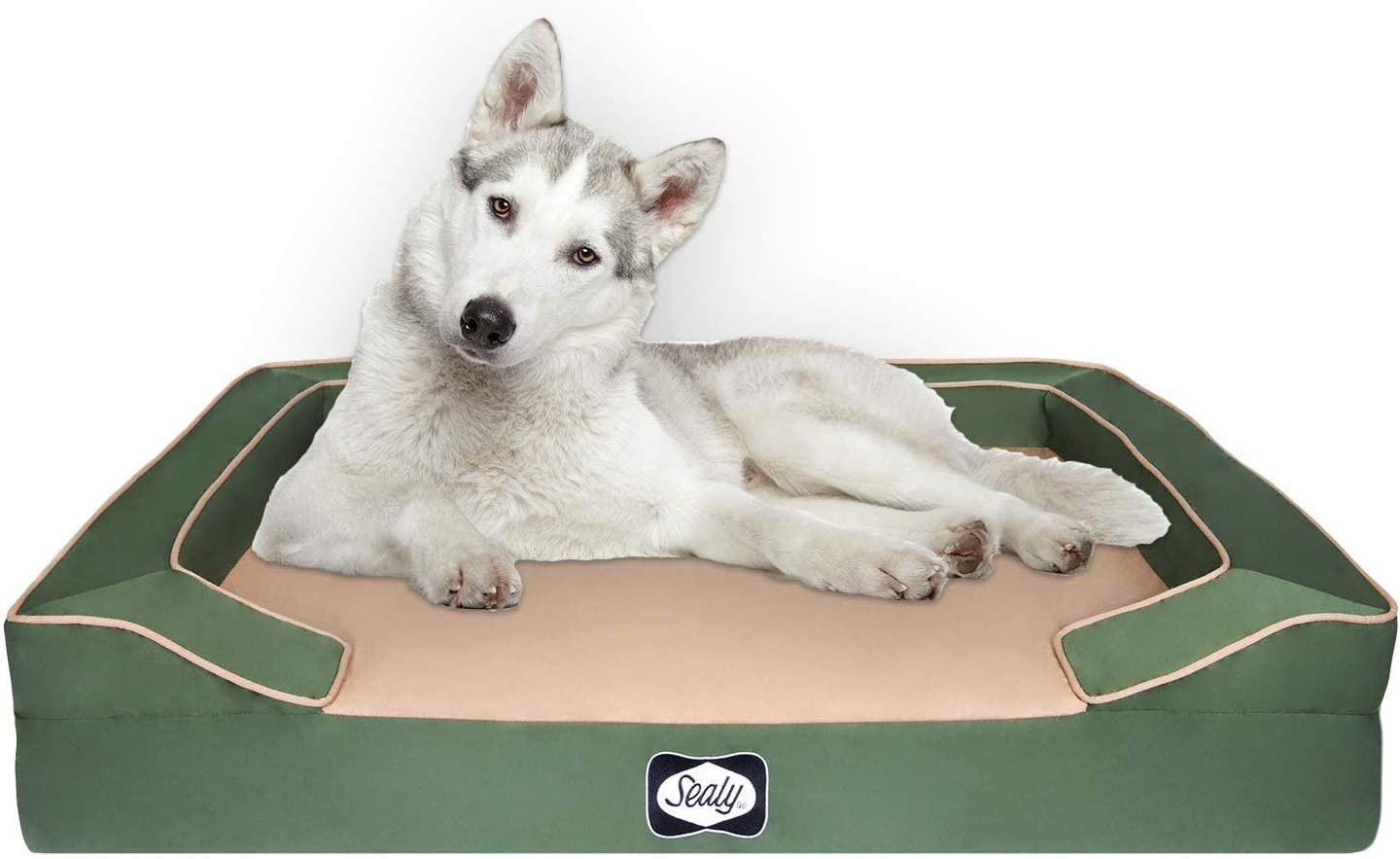 Sealy Lux Quad Layer Orthopedic Dog Bed with Cooling Gel
