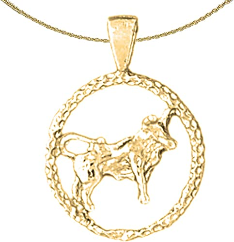 Taurus Necklace Taurus Pendant with 16 Necklace Jewels Obsession Zodiac Rhodium-plated 925 Silver Zodiac