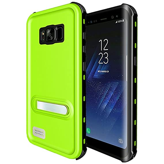 new styles fe157 d14c8 Galaxy S8 Waterproof Case,Underwater Cover Full Body Protective Shockproof  Snowproof Dirtproof IP68 Certified Waterproof Case with Kickstand for ...