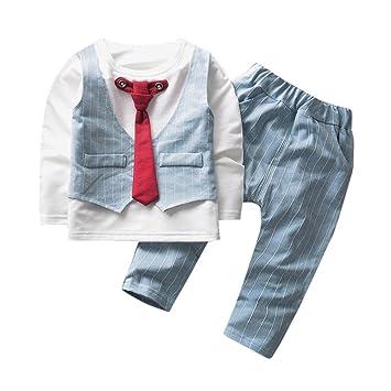 12444abeb9d19 2点セット(上着+パンツ)男女兼用 3色 ネクタイデザイン ベビー服