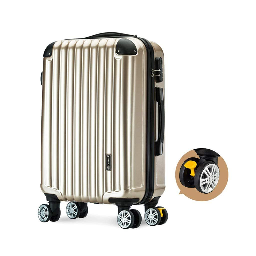 ハードシェルトロリートラベルケーススーツケースハード&フレキシブルケース持ち運び可能な調節可能なハンドル360回転ホイール、3サイズ、シルバー 37*23*55cm  B07MPX9FQT