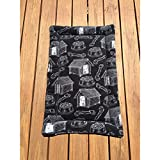 Black Dog Crate Bed Big Puppy Bedding Kennel Pad Fits 24x36 Crate Washable